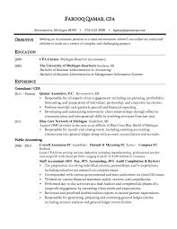 Sample Objectives For Your Resume by Beautiful Cpa Resume Cv Cover Letter Sample Objective Experience