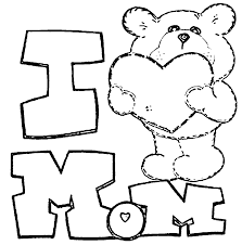 mothersday i love mom bear coloring page wecoloringpage