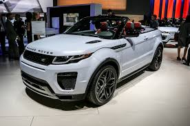 land rover evoque black convertible 2017 range rover evoque convertible drops its top in l a