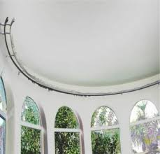 Flexible Curtain Rods For Bay Windows Ceiling Mounted Curtain Track Bay Window Silent Gliss Metropole