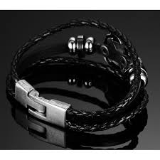 anchor leather bracelet man images Vnox vintage anchor bracelet black leather charm bracelets men jpeg