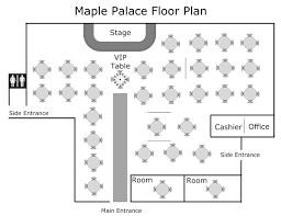 our floor plan 美寶閣 maple palace chinese restaurant in penang