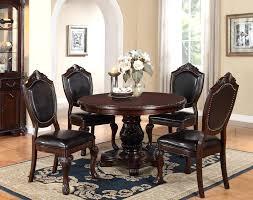 Pedestal Dining Table For 6 Round Pedestal Dining Table 6 Chairs Black Round Pedestal Dining