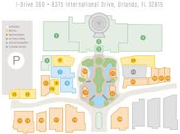 International Drive Orlando Map by Guest Information I Drive 360
