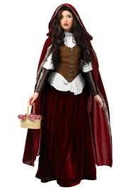 Size Costumes Halloween Deluxe Red Riding Hood Size Costume