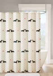 Dainty Home Flamenco Ruffled Shower Curtain Back To Class Dachshund Shower Curtain Belk