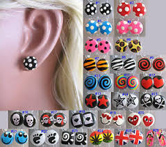 plastic earrings studs plastic earrings funky design hypoallergenic