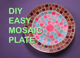 how to make a mosaic plate in 5 steps easy diy craft tutorial