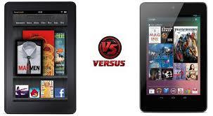 android tablet comparison asus nexus 7 vs kindle tablet comparison
