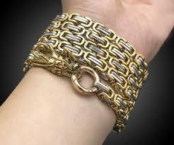 bracelet from chain images Steel self defense bracelet jpg