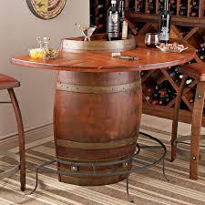 vintage oak half wine barrel bar wine enthusiast