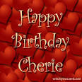 Happy Birthday Cherie Cards