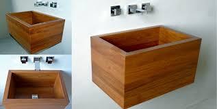 vasche da bagno legno woodwash lavabi in legno arredativo design magazine