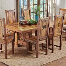 reclaimed wood rustic dining room table furniture rustic dining room chairs in luxury reclaimed wood trestle table 2