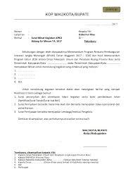 contoh format surat minat