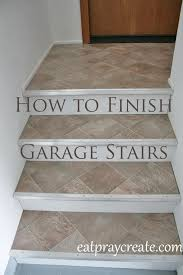 finishing garage stairs vinyl flooring eat pray create