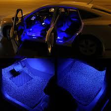 Car Interior Blue Lights Led Lights Strip Remote Control Rgb Car Interior Floor Decorative