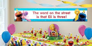 custom sesame street birthday banners party city