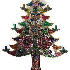 mexican tin art christmas tree tin art from treasuresfoundshoppe