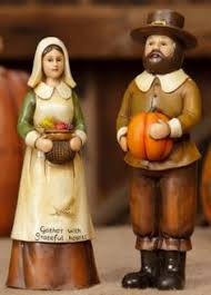 thanksgiving pilgrim figurines thanksgiving