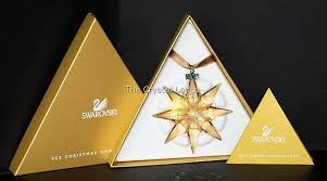 swarovski swarovski 2009 ornament gold scs members