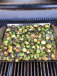 grilled brussels sprouts w balsamic browned butter sauce weber