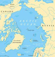 North Pole Map Arctic Ocean Map U2014 Stock Vector Furian 113437828