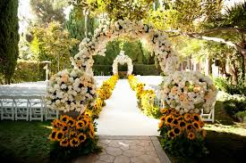 modern outside wedding decorations with outdoor wedding venue