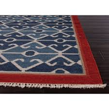 Red Tribal Rug Blue And Red Rugs Rug Designs
