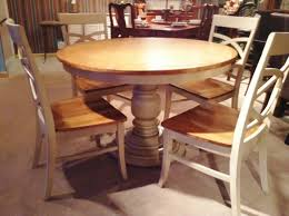 round farmhouse dining table room large pedestal rustic winsome
