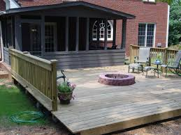 exciting fire pit on wood deck 76 for your home designing