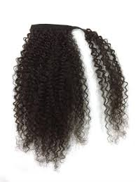 ponytail extensions 14 32 inch wrap around 100 human hair ponytail in curly 1b