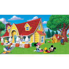 disney mickey friends giant wallpaper accent mural obedding com mickey and friends wall murals chair rail