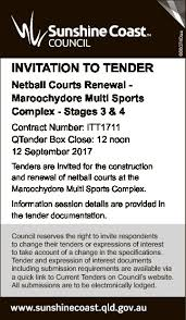tenders notices notices south burnett times