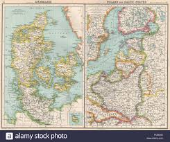 Baltic States Map Baltic Denmark Poland East Prussia Shows Free City Of Danzig