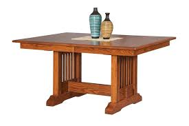 mission trestle dining table by dutchcrafters amish furniture
