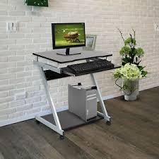 bureau pour ordinateur portable pc table d ordinateur portable noir travail meuble bureau