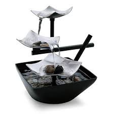 waterfall home decor fountain waterfall table rock relaxation tabletop water garden