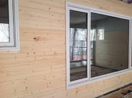 pine wood walls in 3 season porch