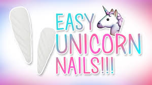 freehand cloud design nail art tutorial easy unicorn nail art how to tutorial with 3d gel youtube