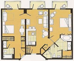 disney boardwalk villas floor plan disney 2 bedroom villas functionalities net