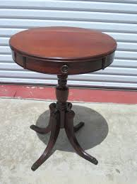 Accent Table With Drawer Side Table Antique Round Side Table With Drawer Pair Of Antique