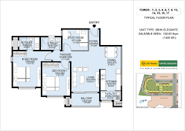 Scaled Floor Plan Floorplan L U0026 T Raintree Boulevard Bangalore