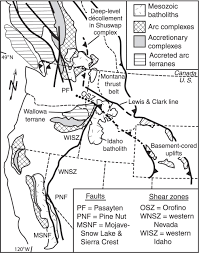 late cretaceous truncation of the western idaho shear zone in the