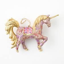 pink mariposa unicorn ornament