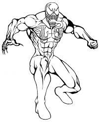 spiderman venom coloring pages free coloring