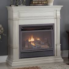 full size dual fuel ventless natural gas propane fireplace