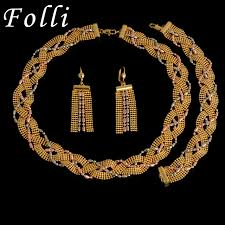 aliexpress buy new arrival 18k real gold plated aliexpress buy unique jewelry set high quality