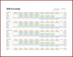 shift schedule excel template exltemplates
