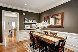 traditional dining room with crown molding u0026 wainscoting in